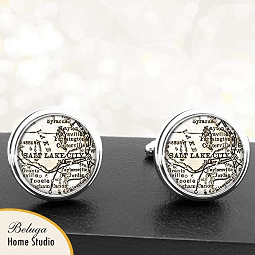 Amazon.com: Handmade Antique Map Cuff Links Salt Lake City ... on salt lake city va map, snowbird utah map, sioux city iowa on usa map, salt lake city on a state map, salt lake city streetcar map, salt lake city utah area map, salt lake city with map of america, southern utah tourism map, salt lake city zip code map, sandy utah on usa map, utah airports map, snowbird mountains north carolina map, salt lake city on us map, great salt lake map, lake city street map, salt lake city parking map, utah road map, kansas city missouri on usa map, ogden utah on usa map,