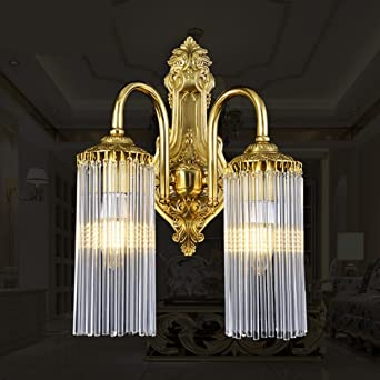 Xxn Kontinentales Luxus Led Lampe Messing Kristall Kristall Glas