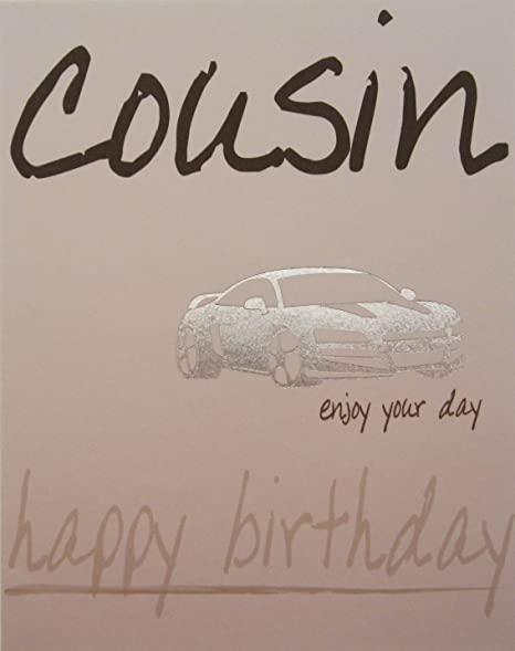 WHITE COTTON CARDS Cousin Happy Birthday Card Sports Car