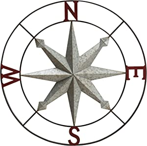 Sunjoy Exeret Decorative Compass, Copper