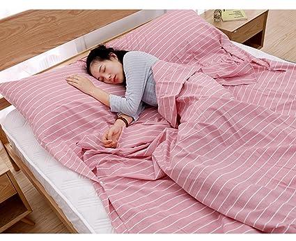 Viaje a través del saco de dormir sucio Saco de dormir portátil de algodón Ultra ligero ...