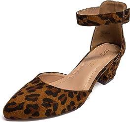 e4813dac265 Chase   Chloe Jason-1 Pointy Toe Chunky Heel Women s D Orsay Pump Shoes