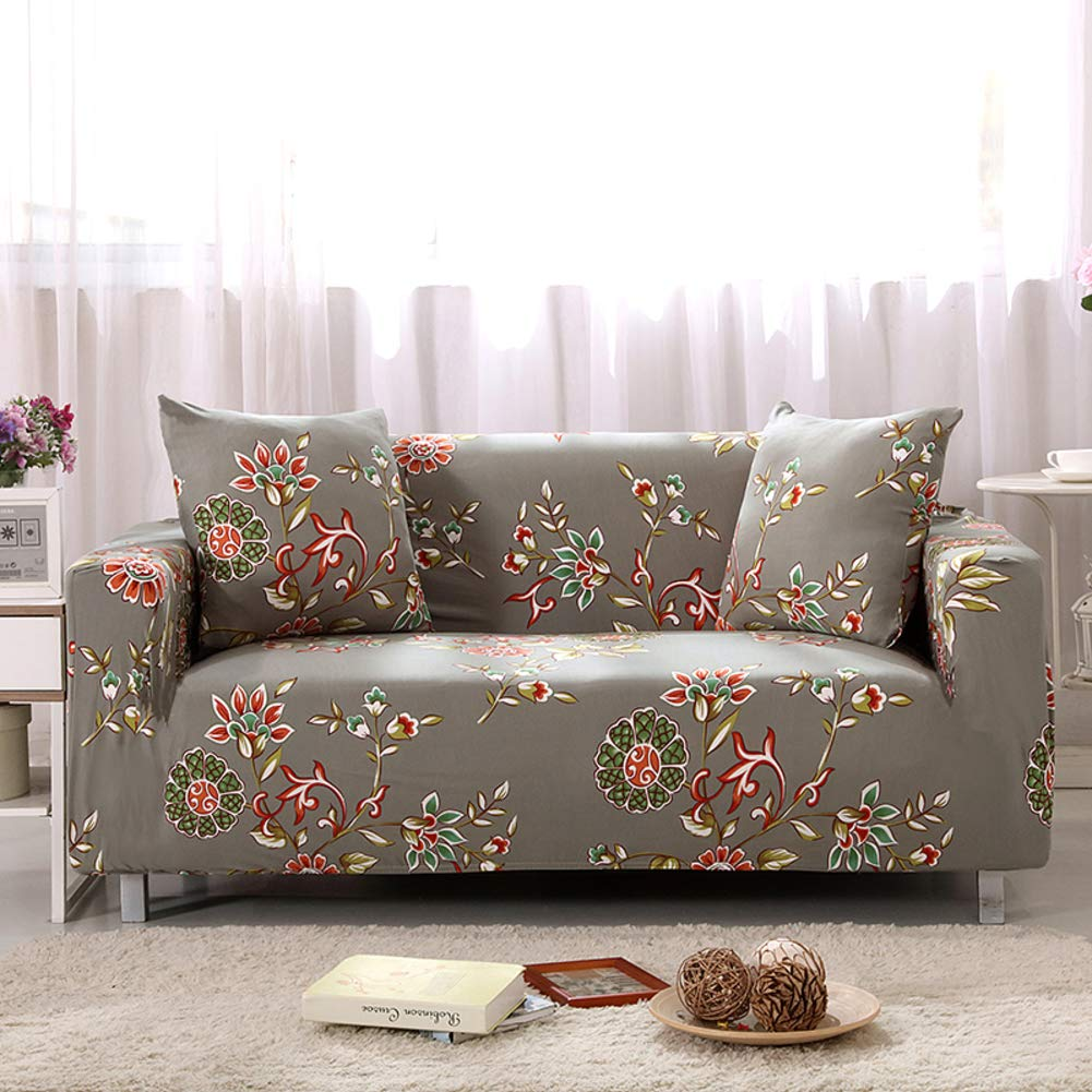 YUNJIE Stretch Couch Covers, Anti-Slip Sofa slipcovers, Sofa slipcovers 1-Piece, Sofa Covers for Leather Sofa Furniture Protector All Season sectional-M Single-Person Sofa