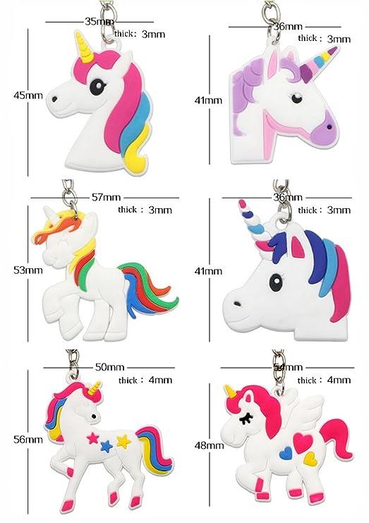 12x PC Regalo de cumpleaños del niño del unicornio del regalo dominante del llavero del unicornio de: Amazon.es: Juguetes y juegos