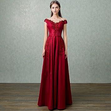 Vestidos De Novia De Las Mujeres De La Moda De Color Borgoña Delgado Fuera del Hombro