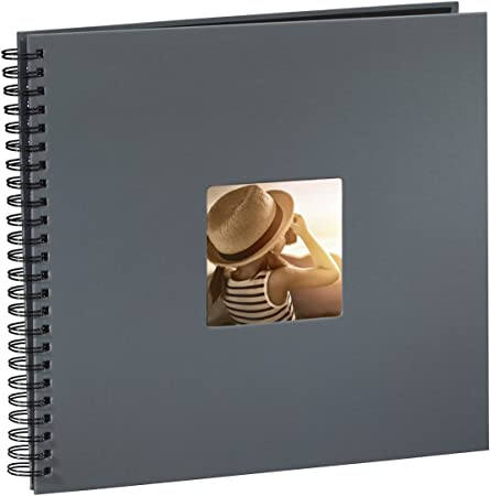 Spiralalbum 100 Fotos 9 x 13 Fotoalbum schwarze Seiten Spiral Foto Album Fenster