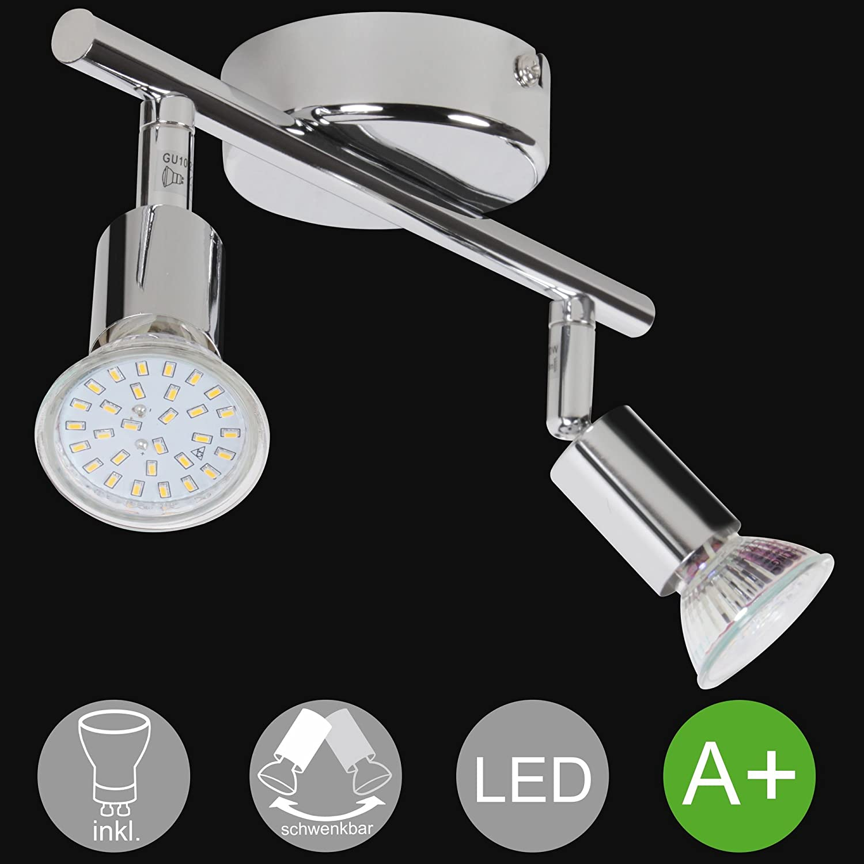 Lampe 3-flammig Warmweiß Drehbar Deckenstrahler FineBuy LED Deckenlampe EEK A