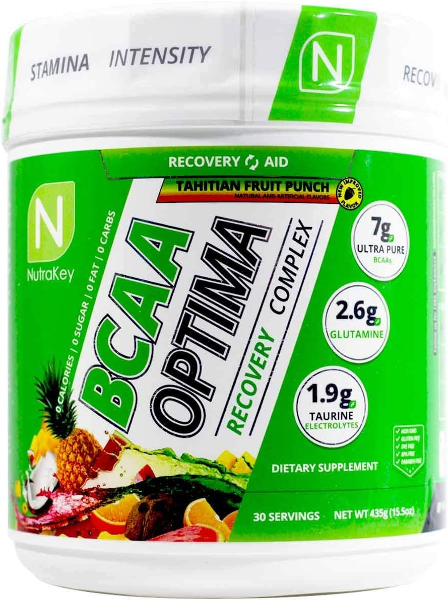 NutraKey BCAA Optima Post Workout Product, Tahitian Fruit Punch, 15.55 Ounce