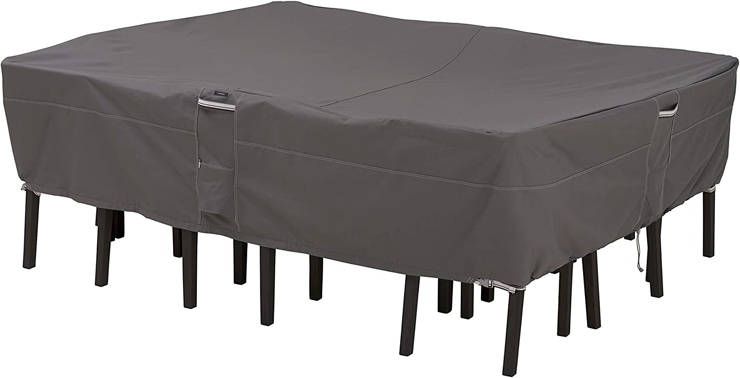 Classic Accessories Ravenna Oval/Rectangular Patio Table & Chair Cover, X-Large