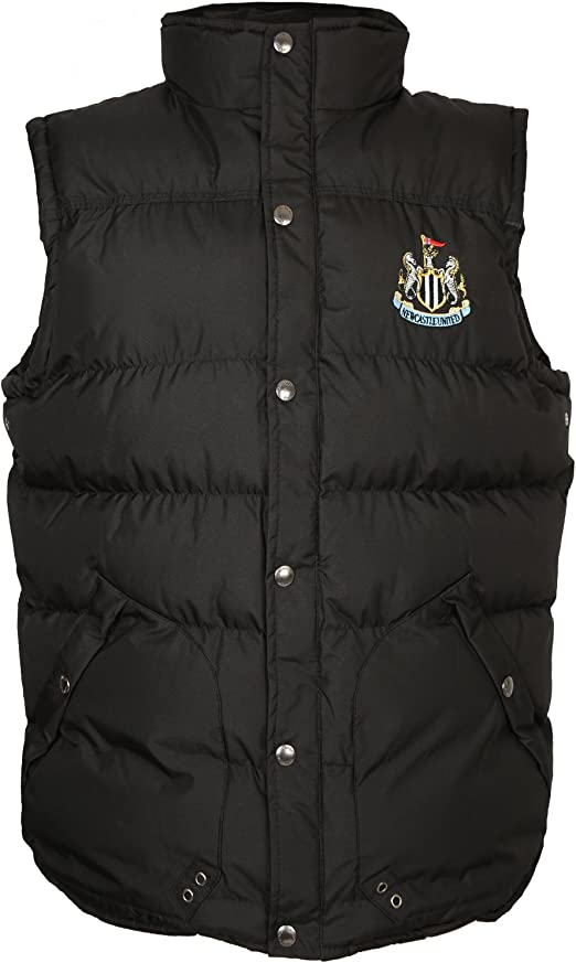 Newcastle United FC Official Football Gift Boys Padded Body Warmer Gilet