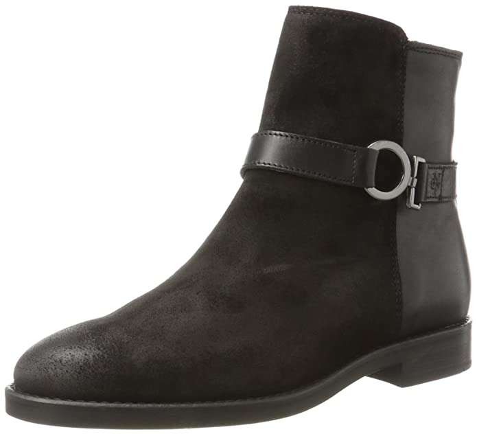 Marc O' Polo Flat Heel Bootie 70814226001311, Bottes Souples Femme, Schwarz (Black), 38 EU
