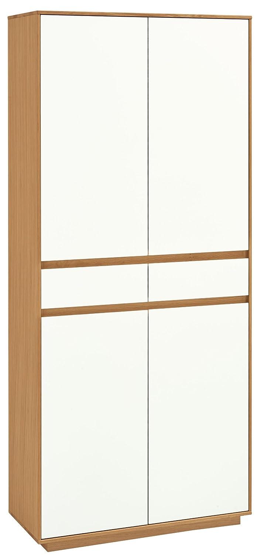 Voss-Möbel Mehrzweckschrank V100 86x193x37cm in der Farbe Lack weiß