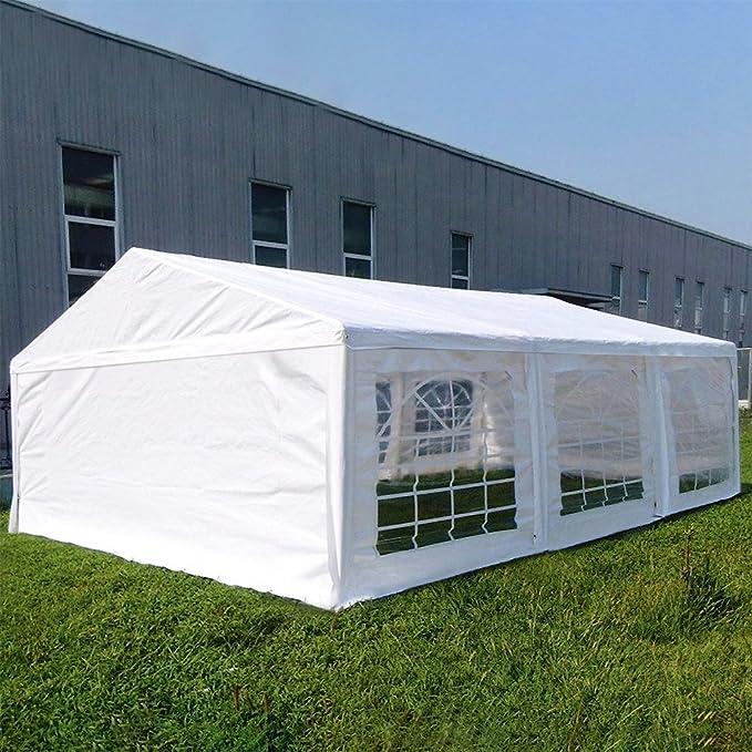 6 x 4 m Quictent (396, 24 cm 1 x 579, 12 cm 8 88) Blanco de polietileno de campaña de fiesta de boda tienda de campaña casetas Gazebo: Amazon.es: Jardín