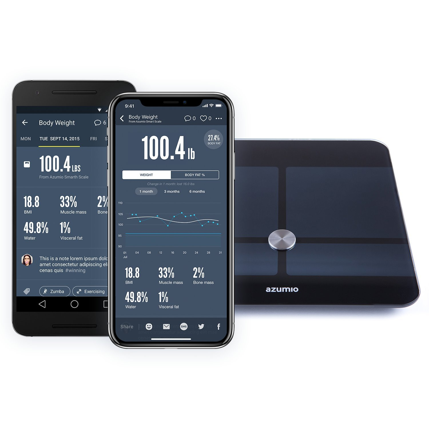 Azumio Smart Weight and Body Fat Bluetooth Digital Scale with App - Apple Health Compatible by Azumio (Image #7)