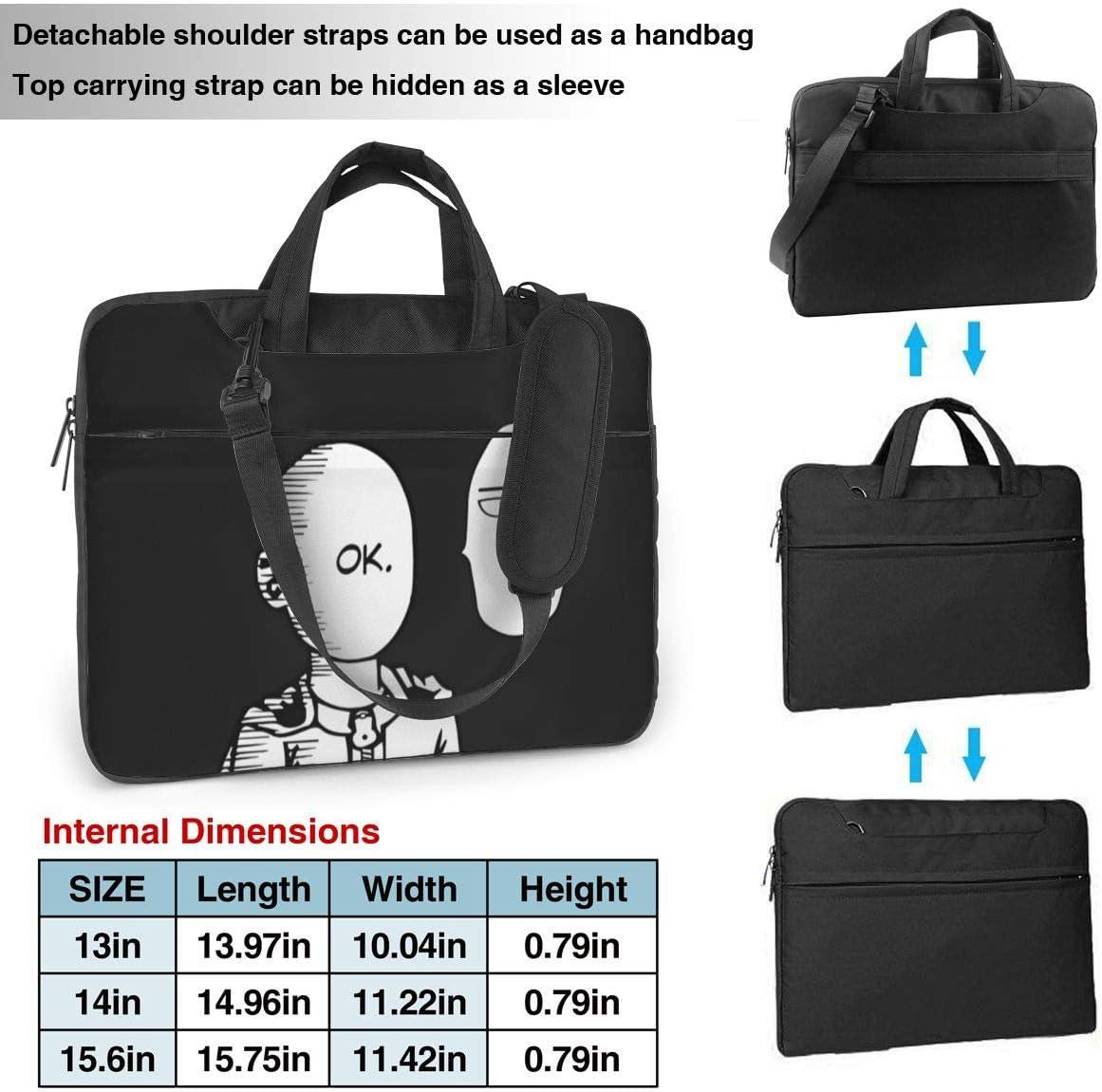 Anime One Punch Man Laptop Sleeve Case Handheld One Shoulder Shockproof Oxford Protective Case//Notebook Computer Pocket Case//Tablet Briefcase Carrying Bag Compatible-14 inch