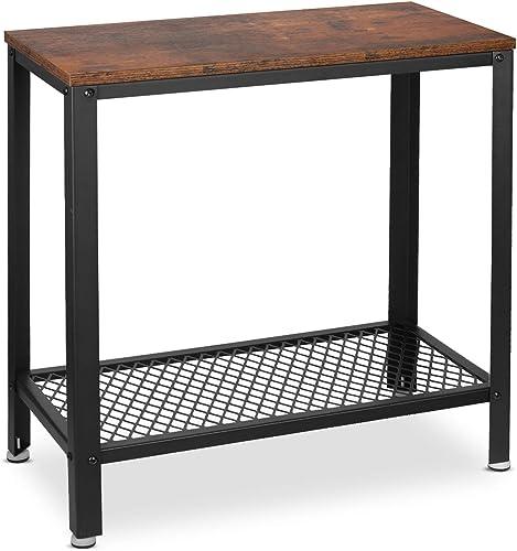 alvorog End Side Table 2-Tier Nightstand