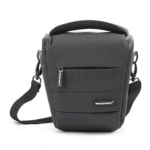 BAGSMART Compact DSLR Camera Bag Shockproof Case Travel Padded Holster Shoulder Bag for Canon, Nikon, Olympus, Pentax, Sony, Samsung Digital Cameras