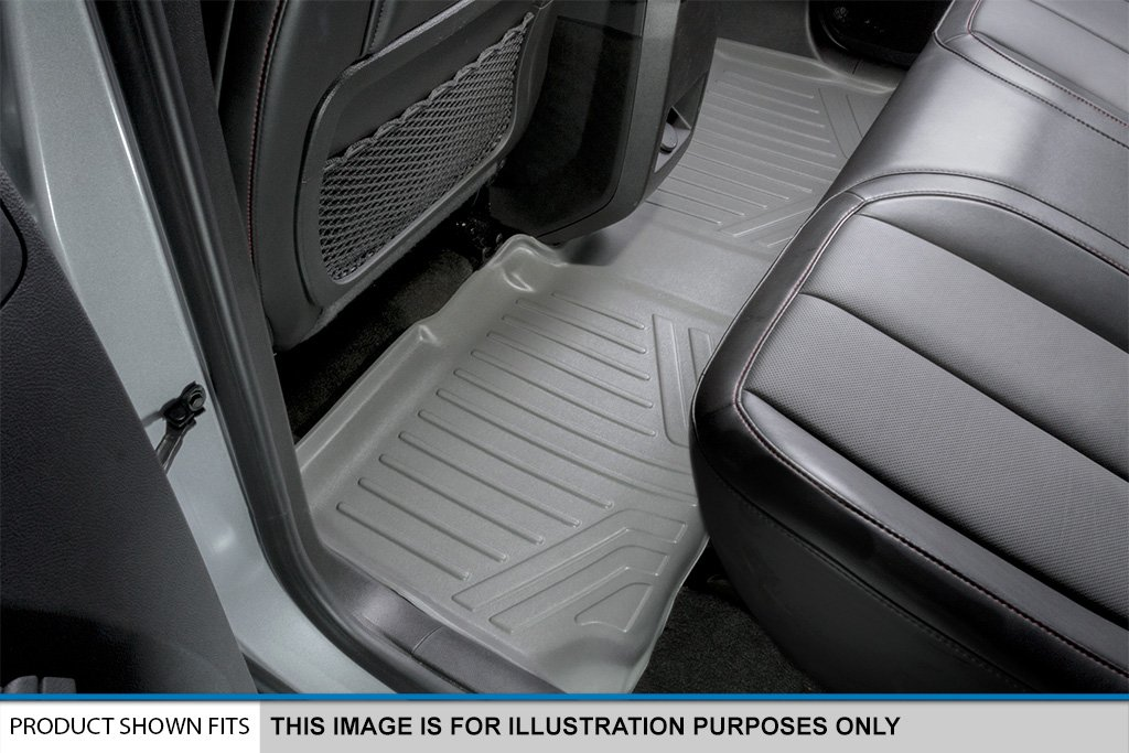 Grey MAX LINER A2043//B2044-P MAXFLOORMAT Floor Mats New Full Coverage for Traverse//Enclave//Acadia//Outlook with Bucket Seats 3 Row Set