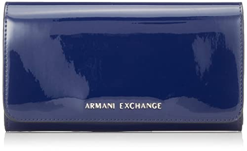 Armani Exchange - Wallet With Stud, Carteras Mujer, Azul (Navy), 10.5x3x19 cm (B x H T): Amazon.es: Zapatos y complementos