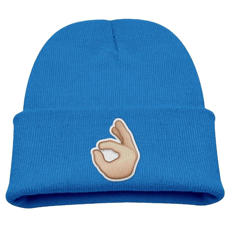606bada89cf OQHO12 Just So Fingers Emoji Kids Hat Warm Soft Fashion Cute Knitted Cap  for Autumn Winter