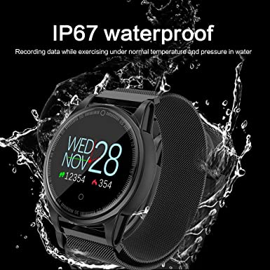 ... Sports Watch,Smartwatch with Fitness Tracker,Ip67 Waterproof,Heart Rate&Blood Pressure Monitor,Remote Camera,Pedometer Watches for Men Women: Watches