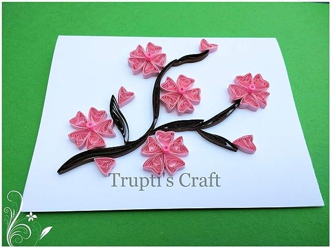 Amazon Com Paper Quilling Sakura Cherry Flower Any Occasion