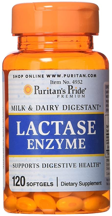 Puritans Pride Lactase Enzyme 125 mg-120 Softgels