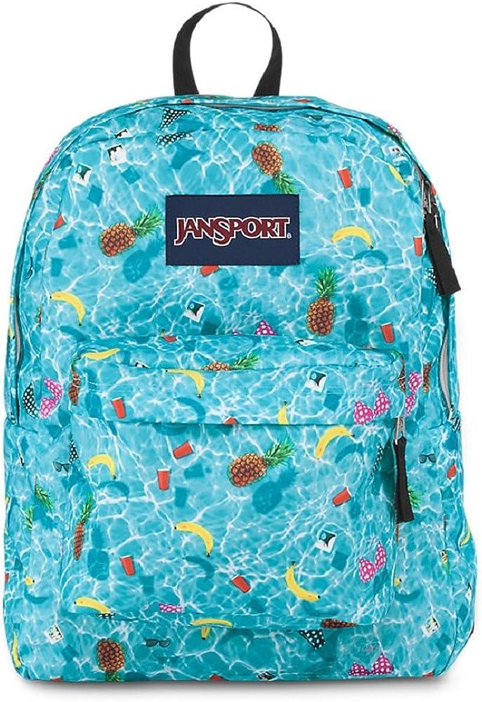 Classic Jansport Superbreak Backpack Multi Pool Party T5010EJ