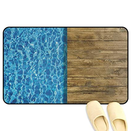 Amazon.com : homecoco Aqua Outdoor Door Mats Summer House Seem ...