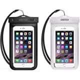 Universal Waterproof Phone Case, CHOETECH 2-Pack Clear Transparent Cellphone Dry Bag, Phone Pouch With Neck Strap for iPhone 11, 11 pro, XS Max, Samsung S10 S9 and All Devices Up to 6.5 Inches