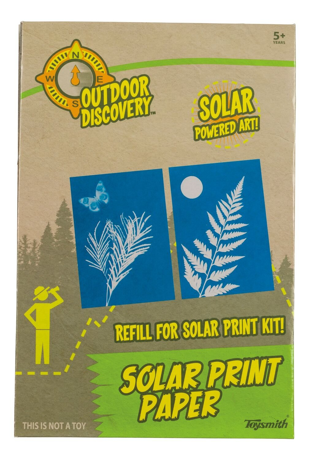 Toysmith 4064 Repack, Solar Print Paper Refill Pack, Toy, 1-Pack