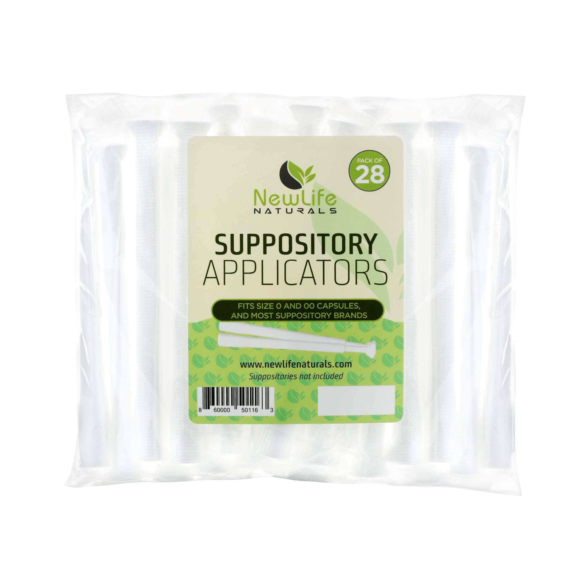 Disposable Plastic Vaginal Suppository Applicators: Individually Wrapped Suppository Applicator for Women - Fits Most Boric Acid Suppositories, Pills, Tablets and Size 0 and 00 Capsules - 28 Pack by NewLife Naturals