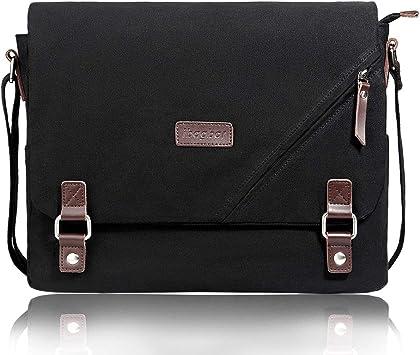 Women Solid color canvas portable big bag large capacity shoulder Messenger bag