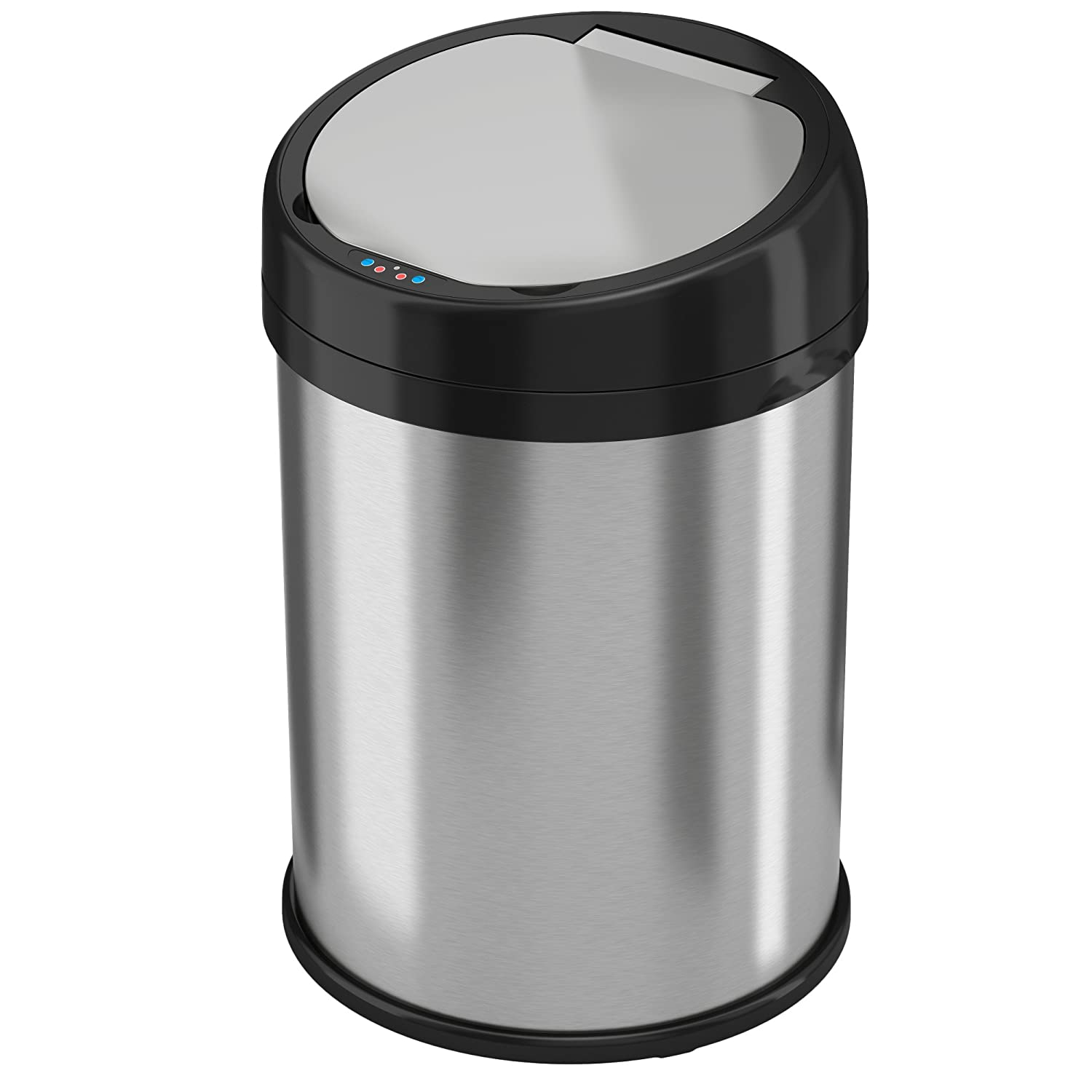 iTouchless 8 Gallon Stainless Steel Automatic Trash Can with Odor Control System, Round Sensor Touchless Kitchen Trash Bin 30 Liter IT08RS