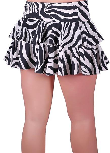 EyeCatch - New Zebra Print Ladies Short Club Party Womens Girls Ruffle Mini  Skirt: Amazon.co.uk: Clothing