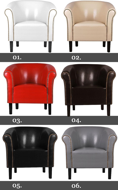 Fortisline Monaco W287/ /01/Armchair Imitation Leather White