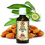 Mandelöl kaltgepresst, 50ml, reines und natives Mandel Öl - intensive Pflege für Gesicht, Körper, Haare, gut mit ätherischem Öl, für Massage - Beauty - Körperpflege, süßes Mandelöl von AROMATIKA