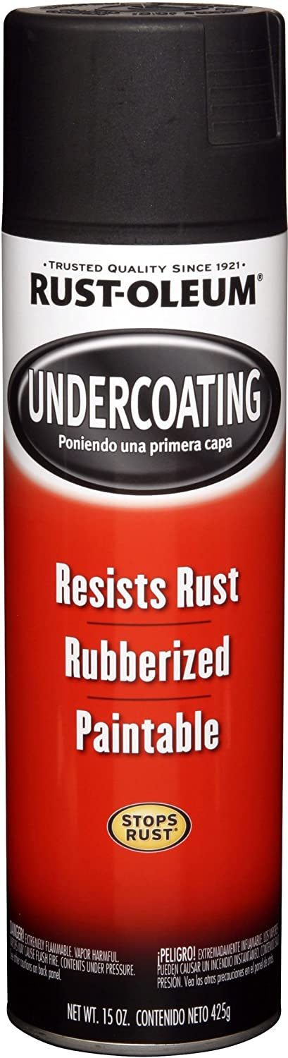 Rust-Oleum 15 Oz Black Rubberized Undercoating Spray Paint, Black, 6 Pack