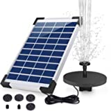 AISITIN 5.5W Solar Fountain Pump built-in 1500mAh Battery Solar Water Pump Floating Fountain with 6 Nozzles, for Bird…