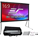 Elite Screens Yard Master 2, 120-inch Outdoor Indoor Projector Screen with Stand 16:9, Fast Easy Snap On Set-up Freestanding
