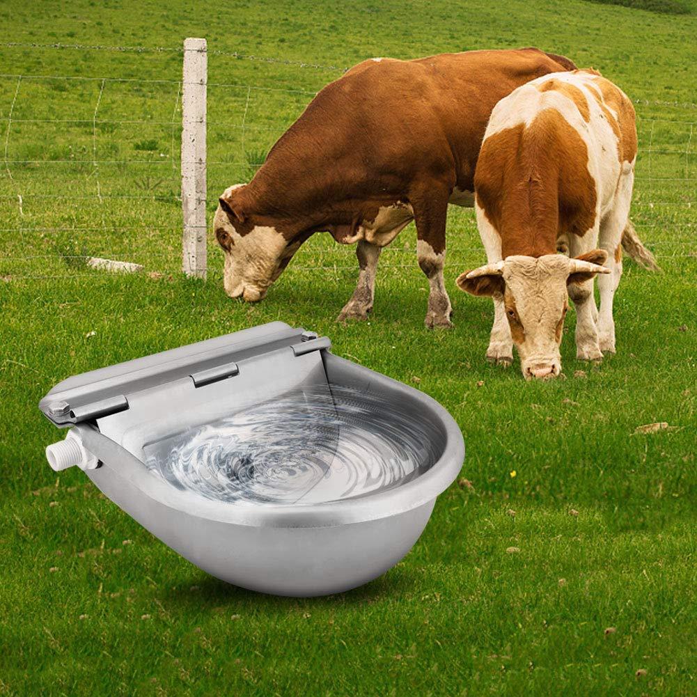 Ridgeyard Outdoor Farming Automatic Stock Pet Waterer Water Trough Stainless Steel Horse Cattle Goat Sheep Dog Auto Fill Water Bowl by Ridgeyard