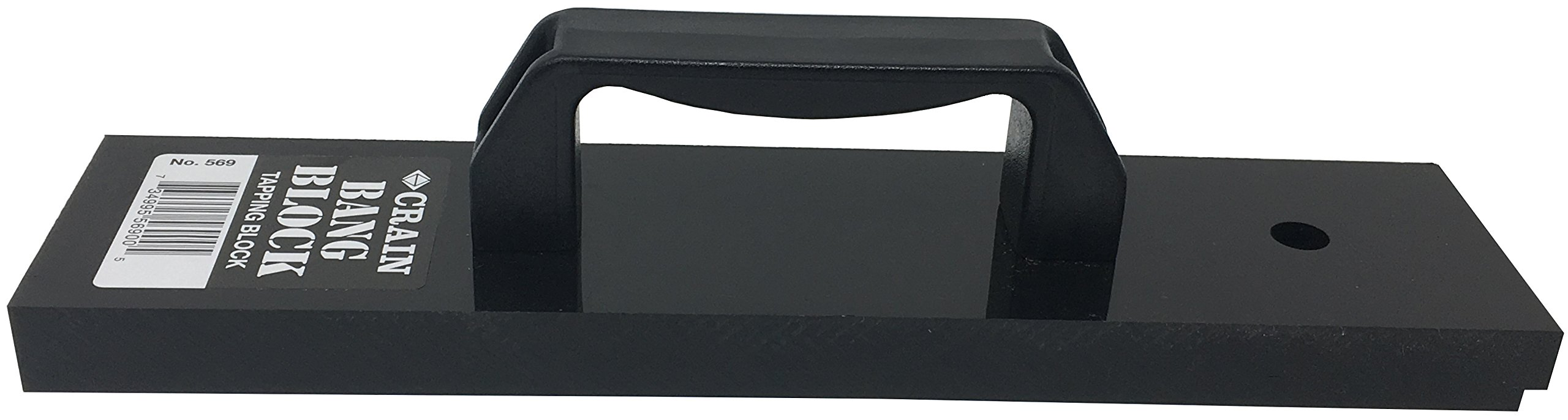 Crain 569''Bang Block'' Wood Floor Tapping Block - 3/4'' Heavy Thick Solid Plastic