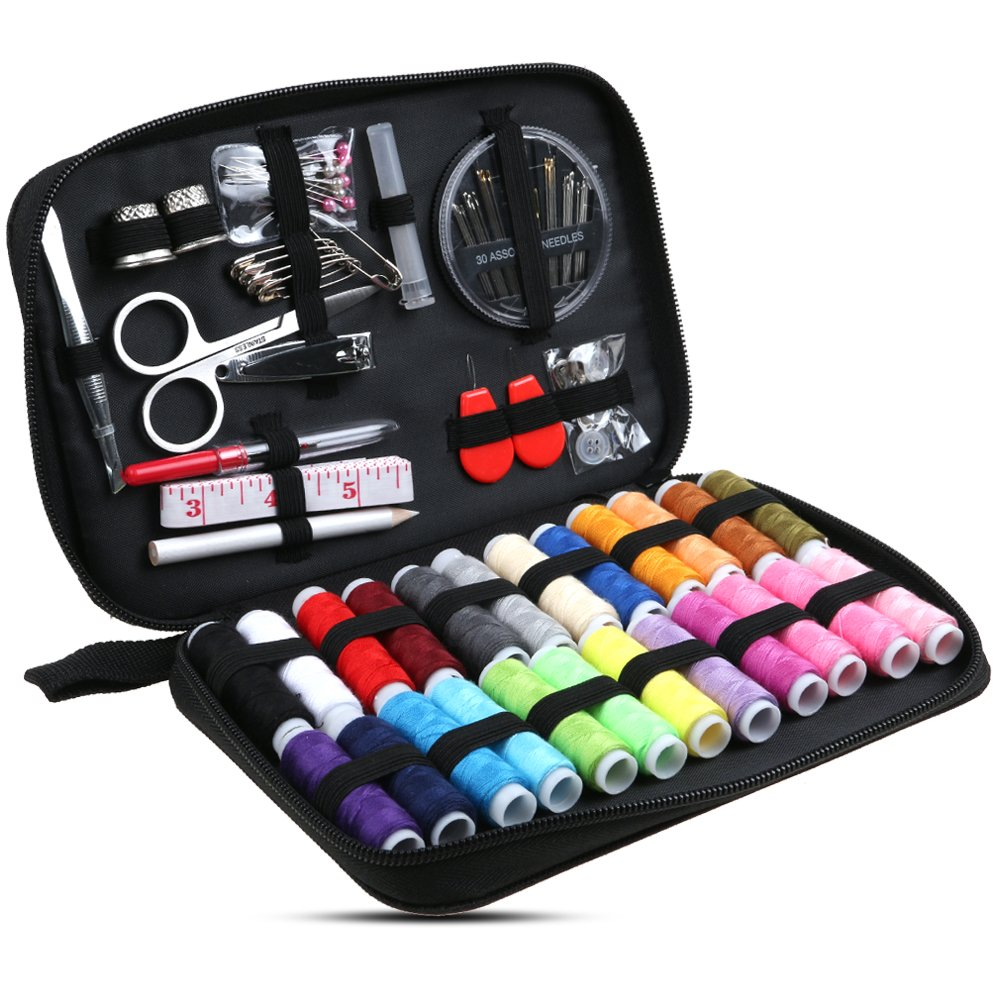 Annstory Practical Travel Sewing Kit Bundle, Packed with Bigger Spools of Thread, Scissors and Easy to Thread Needles, Perfect Starter, Beginners, Adults Annstory-75031-UK