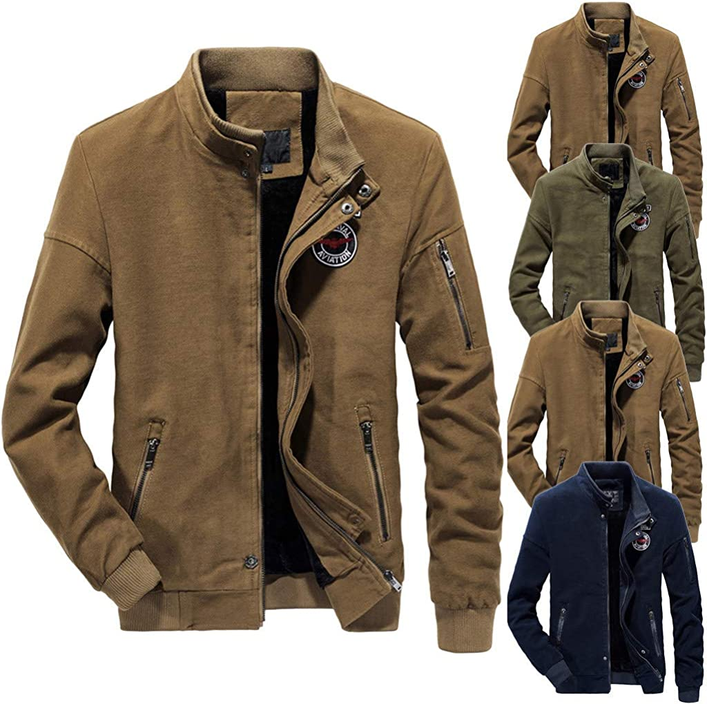 WILLTOO❤️❤️ Men Coats Winter Outdoor Jacket Leisure Military Uniform Sport Coats