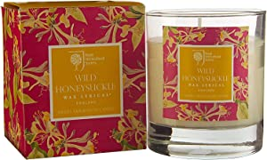 Wax Lyrical Honeysuckle Scented Glass Candle - RHS Fragrant Garden Collection - Made in England