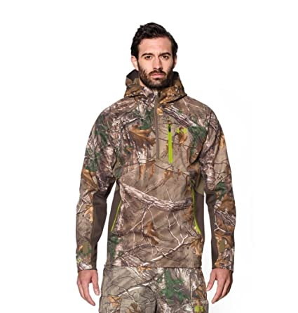 fbc6e67159eff Under Armour Coldgear Infrared Scent Control Softershell Anorak Jacket -  Men's Realtree Ap Xtra / Velocity