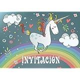 """0945fde3b3653 Edition Colibri 10 Invitaciones en español """"Unicornio"""" (Jgo.1)  Juego"""