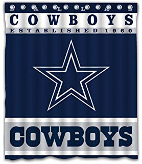 f05c20b69 Sonaby Custom Dallas Cowboys Waterproof Fabric Shower Curtain for Bathroom  Decoration (60x72 Inches)