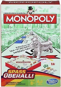 Hasbro Gaming- Monopoly Grab & Go Juego de Viaje Compacto, Versión Alemana, Multicolor (B1002100): Amazon.es: Juguetes y juegos
