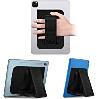 Fintie Universal Tablet Hand Strap Holder - [Dual Stand Supports] Detachable Padded Hook & Loop Fastening Handle Grip…